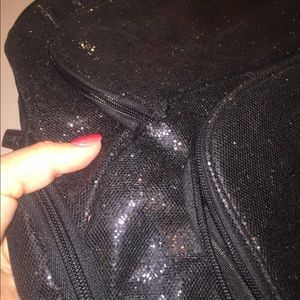 chasse Bags - Chasse Black sparkle backpack